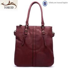 Guangzhou factory ladies customized logo flat tote handbag designer