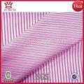 blanco y rosa raya simple hilado teñido de tela de algodón para camisas