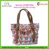 High Quality Canvas & Leather Multicolored Designer Ladies Handbags