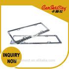CarSetCity Shiny Silver Fashionable Zinc Alloy Car License Frame