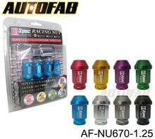 AUTOFAB - 20x D1 Heptagon Wheel Rim Lug Nut Lock M12xP1.25 For SUBARU NISSAN INFINITI AF-NU670-1.25 (Default Color is Red)