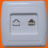 European style flush mounting telephone socket RJ11 (F3007)