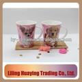 a granel de cerámica tazas de café de calcomanía con los animales