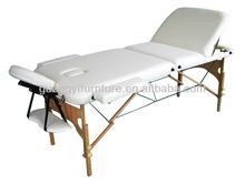 GuangYi 3-section wooden portable adjustable massage table-masa de masaj lettino da massaggio