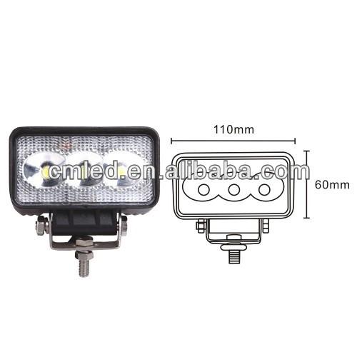 new design 3.2 inch 9W LED Work Light for truck/offload