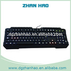 Wired Multimedia backlight keyboard with black color