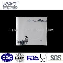 A040 Fine porcelain big decorative square shape dinner plate
