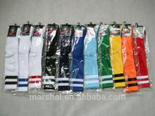 Cheap knee high soccer socks,striped football socks,elite wholesale football socks