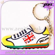 2014 promotional product.High quality shoe soft pvc keychain,mini shoe shape pvc keychain wholesale
