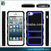 non slipping wheel design tpu and pc hybrid combo case for iphone 5 5s