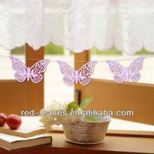 Butterflies laser cut wedding paper ornament