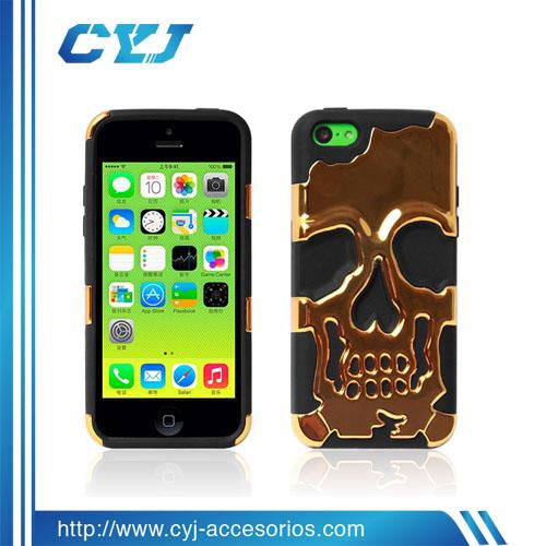 High Quality Single Skull Mobile Phone Case For Iphone 5S,3d cell phone case for iphone and samsung