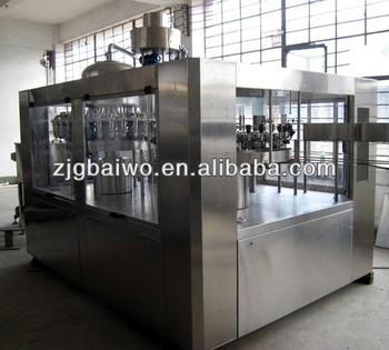 fruit juice hot filling machine three-in-one
