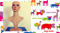 novo estilo de exposição da jóia da boneca de plástico cabeças