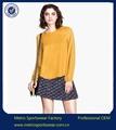 2014 caliente de la venta de gasa blusa de estilo para las mujeres