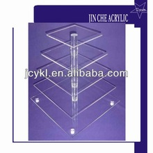 clear acrylic cake display stand with 5 tiers