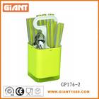 24pcs Stainless Steel Plastic Flatware Set With Plastic basket