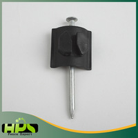 Easy insert farm fence plastic insulator for electric fence