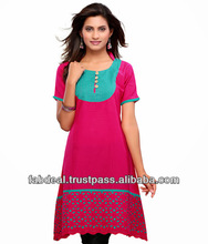 Woolen kurtis | front neck designs for kurtis