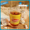 Nhà sản xuất 2014 thủy tinh lipton trà trà có tay cầm tay