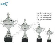 metal prata esportes plástico barato copos troféu