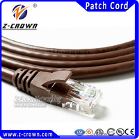 internet only computer 4 pair 24awg cat5e utp patch cord 7X0.18mm stranded copper RJ45 cables with 30inch gold plating connector