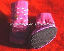 Promoción de moda exclusivo oso cariño Chic de interior antideslizante suave botas calientes de la historieta de goma suela del zapato de bebé calcetines