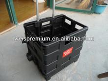 PP Plastic Folding Shopping Carts,Plastic Shopping Trolleys