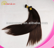 Stick tip hair extension keratin tip pre-bonded human virgin Mongolian hair extension silk straight cheap fusion hair