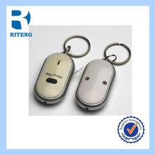 promotion plastic led whistle key finder keychain alarm whistle key finder