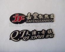 Metal embossed name plate/diamond cut logo aluminum nameplate/anodizing car logo nameplate