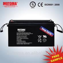 24v solar battery 150ah deep cyle battery