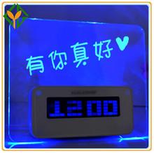 Latest led writing board digital alarm clock,Flashing led message alarm clock