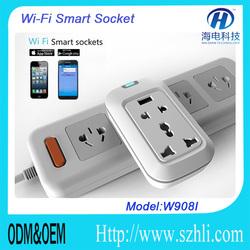 New Tech Product Power Plug&Socket Home Automation Control via APP on Smartphone Wifi/ 2G/ 3G/ Network Smart Socket Wifi
