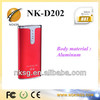 NK-D202 5800mah power bank portable battery bank charger with competitive price