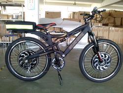 Electric bike /Fast /Powerful design Full Suspension Electric Mountain Bike (DUAL Drive E-bike (SEB-350D))