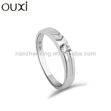 OUXI Vintage style pinchprong setting Simple yet highly sophisticated 925 sliver ring Y70005
