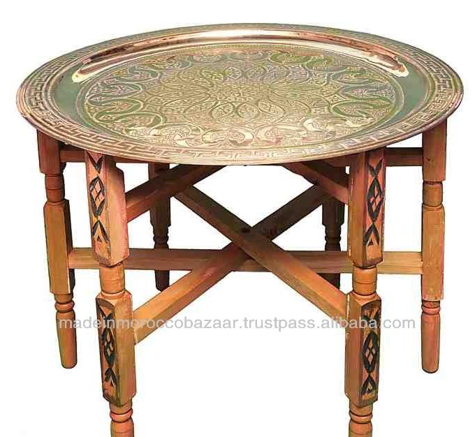 Originale de la main marocaine th plateau de table table for Table a the marocaine