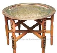 Original Moroccan Handmade Tea Tray Table