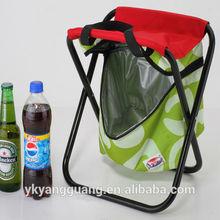 Camping folding cooler bag chair