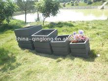 Tall Round Old Stone fibercement Garden Pot and Planters, Vietnam Sandblast ceramic flower pots