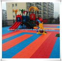 anti slipping sport court tile flooring foe basketball use