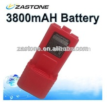 Portable BAOFENG UV-5R Dual Band Two Way Radio Li-ion 7.4V 3800mAh battery PACK Red