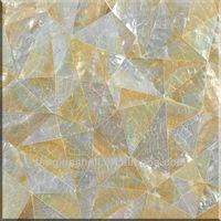 MOP210 New design crackle pattern Golden lip mother of pearl modern wall tile