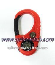 Men's Military Digital Mini Compass Carabiner Clip Watch