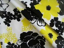 satin quilt fabric 98 cotton 2 spandex stretch satin fabric big flower white ground printed fabric