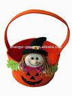 (HB-06C)Handmade felt non woven pumpkin,candy basket,promotion gifts