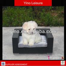 Black Wicker Stylish Cute Pet Dog Bed RS1333
