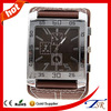 2014 Fashion leather watches for men,quartz watches,square wide band watch