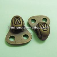 Shoes double holes metal lacing hook